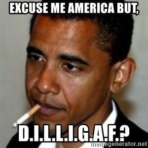 No Bullshit Obama - excuse me america but, d.i.l.l.i.g.a.f.?