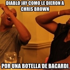 Kanye and Jay - diablo jay como le dieron a chris brown por una botella de bacardi