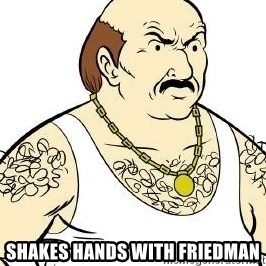 Aqua Teen Carl - shakes hands with friedman