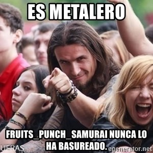 Ridiculously Photogenic Metalhead Guy - es metalero fruits_punch_samurai nunca lo ha basureado.