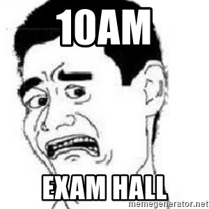 scared yaoming - 10am exam hall