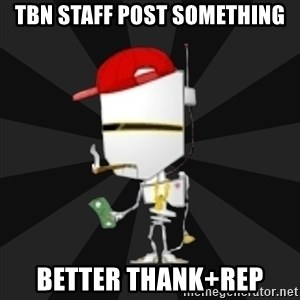 TheBotNet Mascot - tbn staff post something better thank+rep