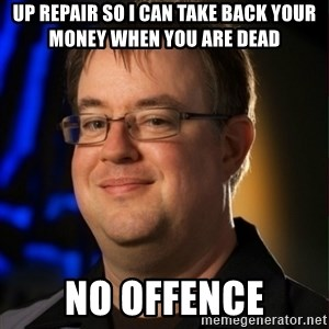 Jay Wilson Diablo 3 - up repair so i can take back your money when you are dead no offence