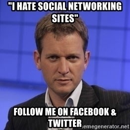 "Jeremy Kyle - ""I Hate social networking sites"" Follow me on facebook & twitter"