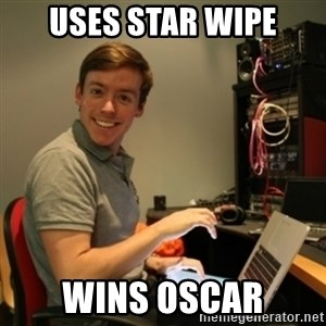 Ridiculously Photogenic Journalist - USES STAR WIPE WINS OSCAR