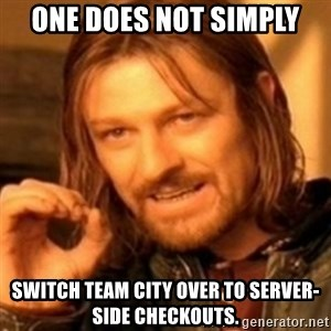 ODN - One does not simply switch Team City over to server-side checkouts.