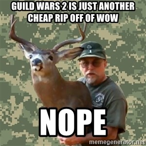 Chuck Testa Nope - guild wars 2 is just another cheap rip off of wow nope