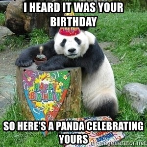 Happy Birthday Panda - I heard it was your birthday so here's a panda celebrating yours