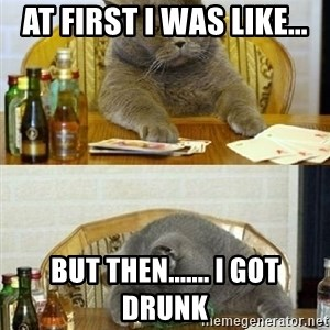 Poker Cat - At First i was like... but then....... i got drunk