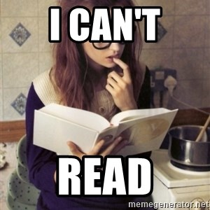 Hipster College Student - I can't Read