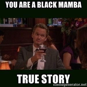 TrueStory meme - you are a black mamba TRUE STORY