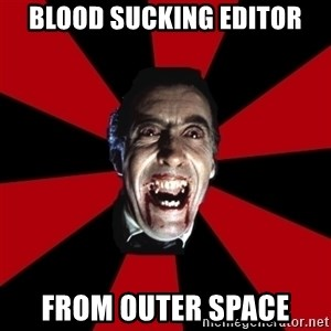 Vampire - Blood sucking editor from outer space
