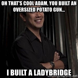 Most Interesting Geek In The World - Oh that's cool Adam, you built an oversized potato gun... I built a Ladybridge