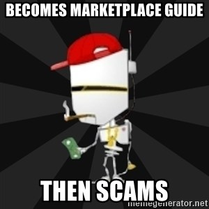 TheBotNet Mascot - becomes marketplace guide then scams