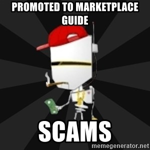 TheBotNet Mascot - promoted to marketplace guide scams