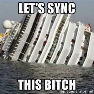 Sunk Cruise Ship - Let's sync this bitch