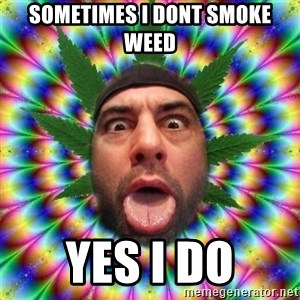 Joe Rogan - sometimes i dont smoke weed yes i do