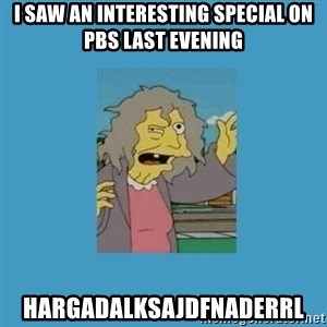 crazy cat lady simpsons - i saw an interesting special on pbs last evening hargadalksajdfnaderrl