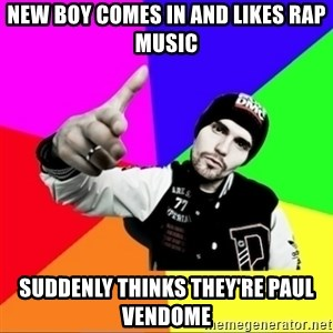 noizemc - new boy comes in and likes rap music suddenly thinks they're paul vendome