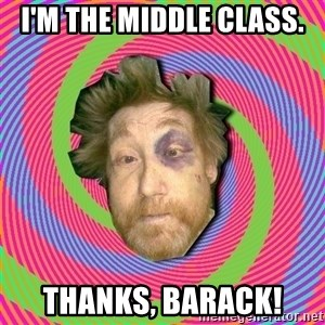 Russian Boozer - I'm the middle Class. Thanks, Barack!