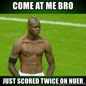Mario Balotelli Serious Face - come at me bro just scored twice on nuer