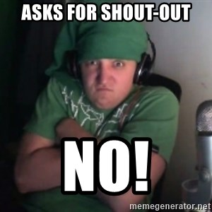 Martyn says NO! - Asks For Shout-Out NO!