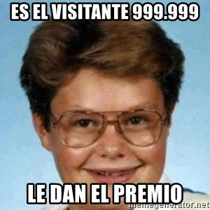 good luck larry hd - Es el visitante 999.999 le dan el premio