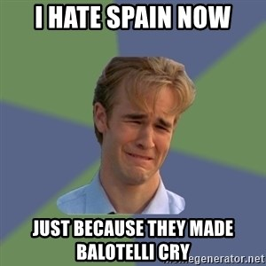 Sad Face Guy - I hate spain now just because they made balotelli cry