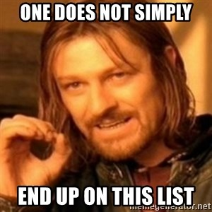 ODN - One does not simply end up on this list