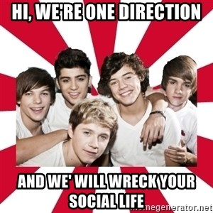 one direction yeah - Hi, we're one direction And we' will wreck your social life