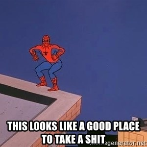 Spiderman12345 - this looks like a good place to take a shit
