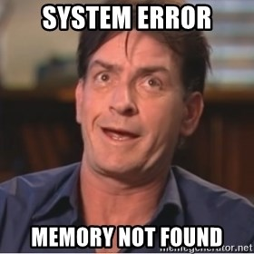 Sheen Derp - system error memory not found