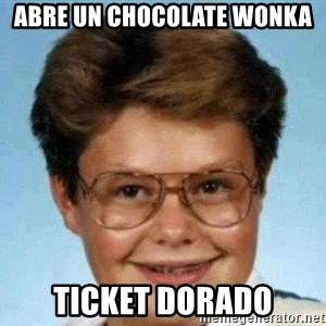 good luck larry hd - Abre un chocolate wonka ticket dorado