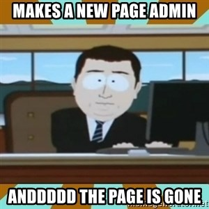 And it's gone - makes a new page admin anddddd the page is gone