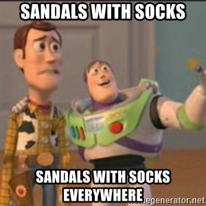 Buzz - Sandals with socks Sandals with socks everywhere