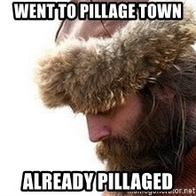 Viking problems - went to pillage town already pillaged