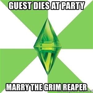 The Sims Anti-Social - GUEST DIES AT PARTY MARRY THE GRIM REAPER