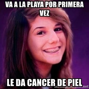 Bad Luck Briana - va a la playa por primera vez le da cancer de piel
