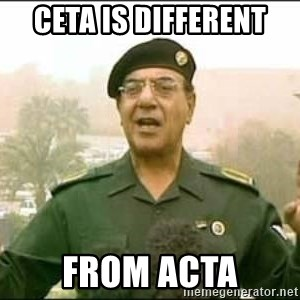 Iraqi Information Minister - CETA is different from acta