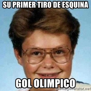 good luck larry hd - su primer tiro de esquina gol olimpico