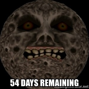 majoras mask moon - 54 days remaining