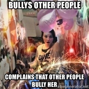 Annoying manda - Bullys other people Complains that other people bully her