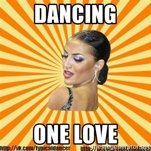 typical ballroom dancer - Dancing one love