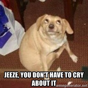 Oh You Dog - Jeeze, you don't have to cry about it