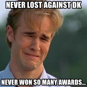 James Van Der Beek - Never lost against dk Never won so many awards...