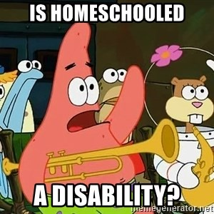 Patrick - IS HOMESCHOOLED A DISABILITY?