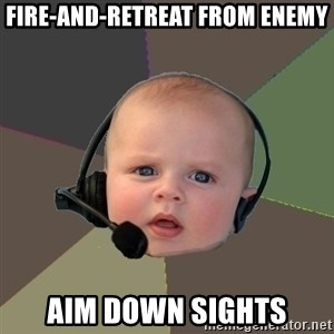 FPS N00b - Fire-and-retreat from enemy Aim down sights