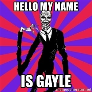 slender man - hello my name  is gayle
