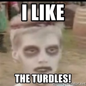 I like turtles  - i like the turdles!
