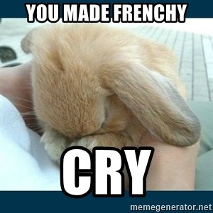 Bunny cry - You made Frenchy Cry